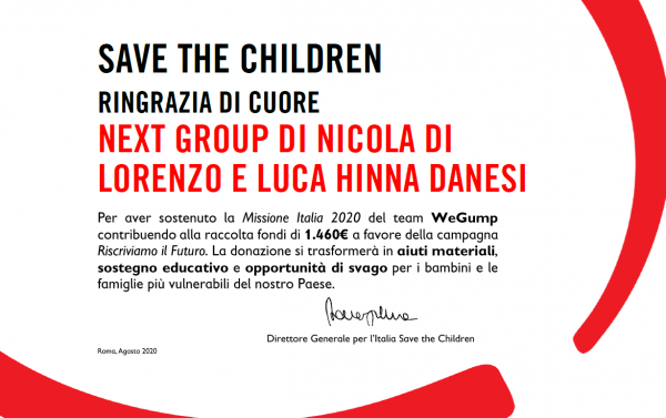 NEXT GROUP SAVE THE CHILDREN RISCRIVIAMO IL FUTURO